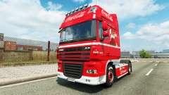 La peau de Coca-Cola sur le camion DAF