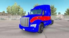 Red und blue skin für den truck Peterbilt