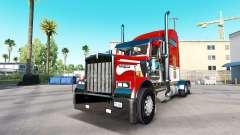 La peau de l'Armée sur le camion Kenworth W900