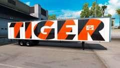 Der Tiger Haut auf dem Anhänger
