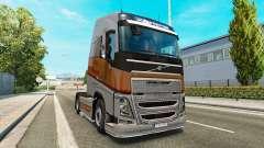 Argent Transports de la peau pour Volvo camion