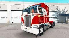 Die Haut Weiß und Rot für den Traktor Kenworth K