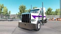 Haut, Weiß und Lila für den truck-Peterbilt 389