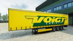 Voigt Logistik skin v1.2 on the trailer