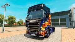 Feu bleu de la peau pour Scania camion