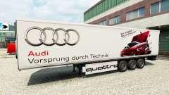 La peau Audi dans la remorque