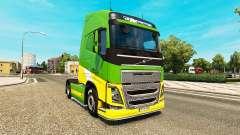 EAcres de la peau pour Volvo camion