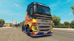Blue Fire skin für Volvo-LKW