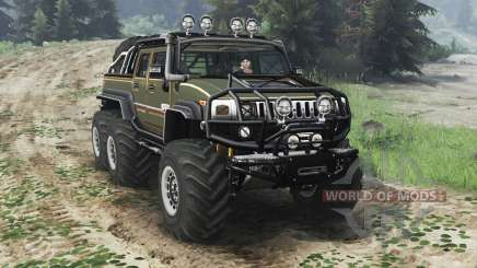 Hummer H2 6x6 [diesel][03.03.16] pour Spin Tires