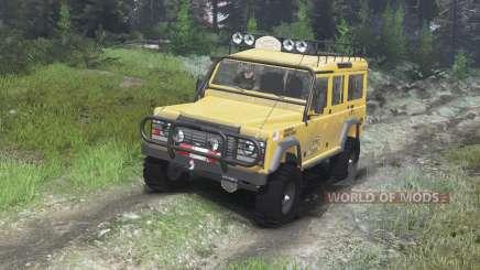 Land Rover Defender 110 Camel Trophy [03.03.16] pour Spin Tires