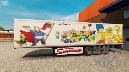 Simpsons de la peau pour une remorque pour Euro Truck Simulator 2