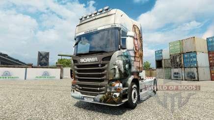 La peau de Guild Wars 2 Norn sur le tracteur Scania pour Euro Truck Simulator 2