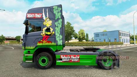 Asterix-skin für den Scania truck für Euro Truck Simulator 2