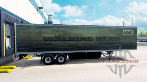 La peau Walking Dead sur la remorque pour American Truck Simulator