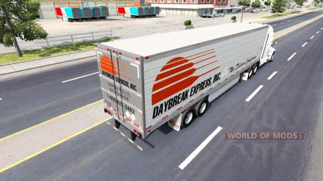 La peau de l'Aube Exprimer sur la remorque pour American Truck Simulator