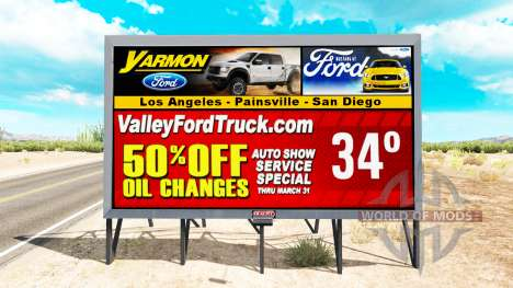 Les etats-unis est sur les panneaux d'affichage pour American Truck Simulator