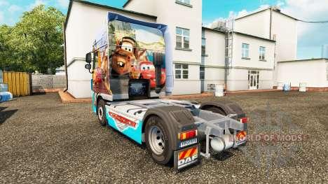 La peau Voitures v2.0 camion DAF pour Euro Truck Simulator 2