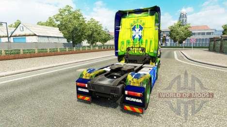 Brasil de la peau pour Scania camion pour Euro Truck Simulator 2