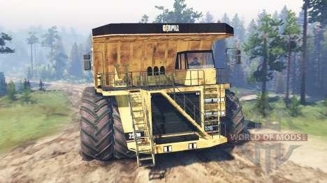 Dump truck 8x8 für Spin Tires