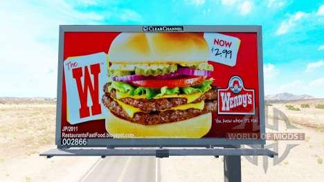 Die USA ist auf Plakaten für American Truck Simulator
