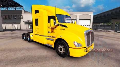 Haut Gelb, Inc. für Peterbilt und Kenworth truck für American Truck Simulator