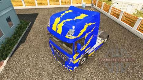 Peau Bleu-jaune-pour DAF camion pour Euro Truck Simulator 2