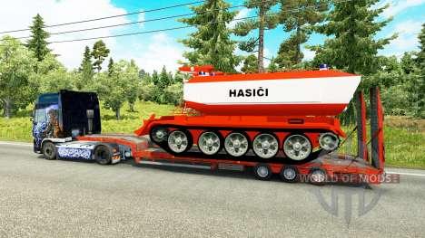 Bas de balayage avec le feu réservoir pour Euro Truck Simulator 2