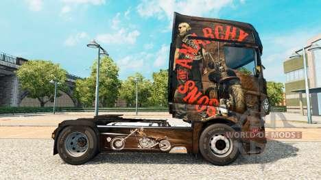 La peau de Sons of Anarchy sur tracteur Scania R pour Euro Truck Simulator 2
