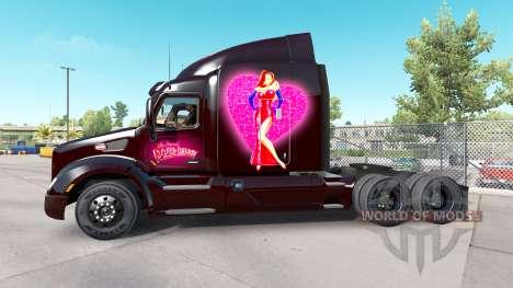 La peau de Roger Rabbit Jessica sur le Peterbilt pour American Truck Simulator