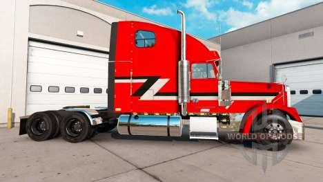 La peau Métallique sur le camion Freightliner Cl pour American Truck Simulator
