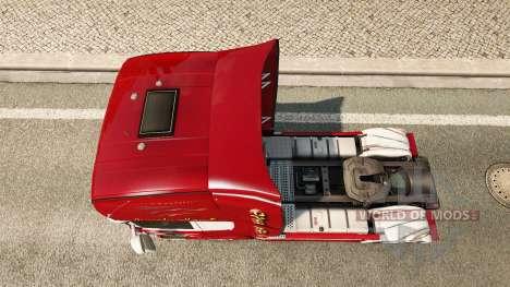 La peau Hawk Edition tracteur Scania pour Euro Truck Simulator 2