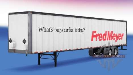 All-Metall-Auflieger. für American Truck Simulator