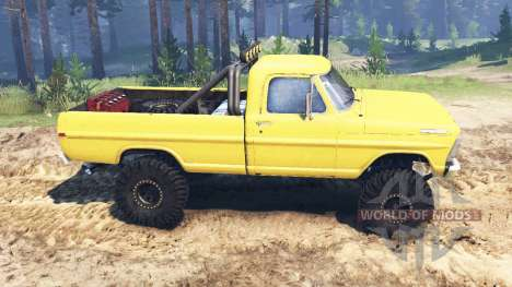 Ford F-250 1972 4x4 pour Spin Tires