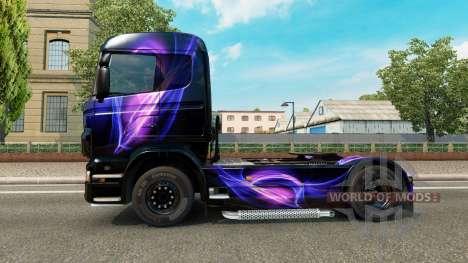 Die Schwarz und Lila skin für Scania-LKW für Euro Truck Simulator 2
