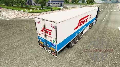 La peau des Élevages à l'arrière d'un semi pour Euro Truck Simulator 2