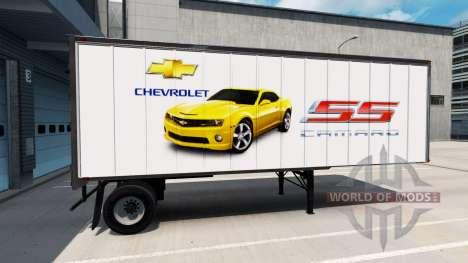 La peau des Voitures Américaines sur la remorque pour American Truck Simulator