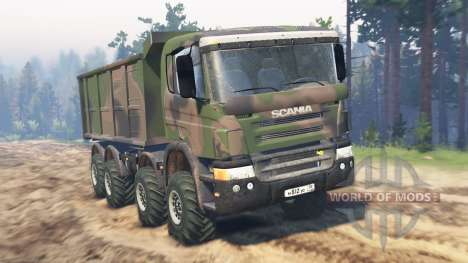 Scania Timber 8x8 pour Spin Tires