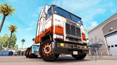 Haut USF auf LKW Freightliner FLB für American Truck Simulator