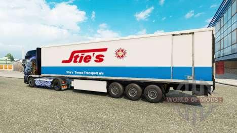 Haut-Ställen an der Rückseite eines halb für Euro Truck Simulator 2