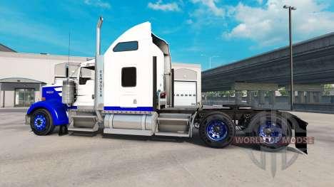 Peau Bleu Pic sur le camion Kenworth W900 pour American Truck Simulator
