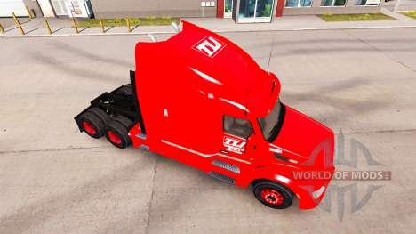 La peau Transco Lignes dans des camions Peterbil pour American Truck Simulator