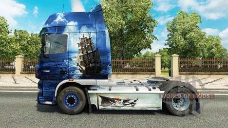 Le Bleu de la Mer des Pirates de la peau pour DA pour Euro Truck Simulator 2