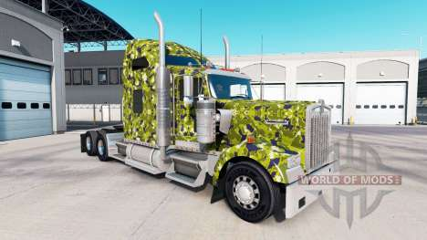 La peau de l'Armée Camo sur le camion Kenworth W pour American Truck Simulator