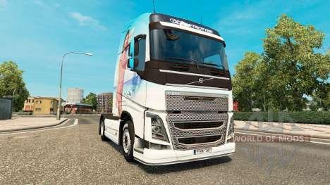 Miranda Kerr peau pour Volvo camion pour Euro Truck Simulator 2