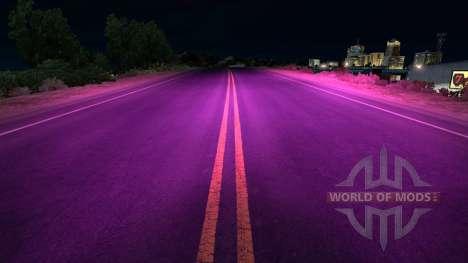 Lila xenons für American Truck Simulator