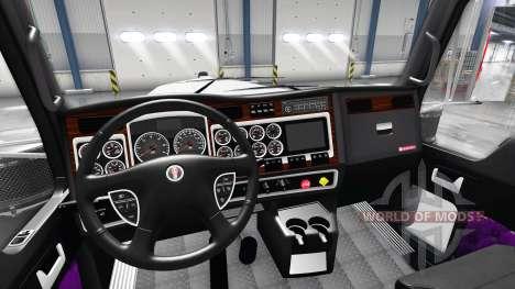 Violet intérieur Kenworth W900 pour American Truck Simulator
