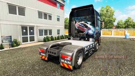 La peau need For Speed Carbon pour tracteur HOMM pour Euro Truck Simulator 2