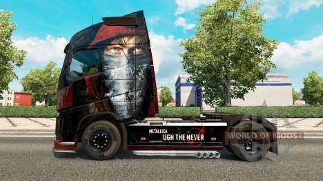La peau de Metallica pour Volvo trucks pour Euro Truck Simulator 2