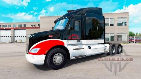 Netstoc Logistica skin für den truck Peterbilt für American Truck Simulator