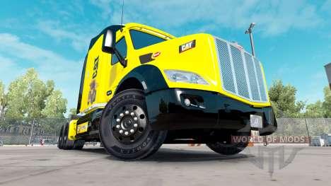 Caterpillar-skin für den truck Peterbilt für American Truck Simulator